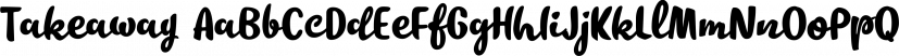 Takeaway font family by Fenotype