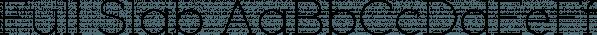 Full Slab font family by Bülent Yüksel