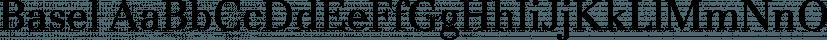 Basel font family by FontSite Inc.