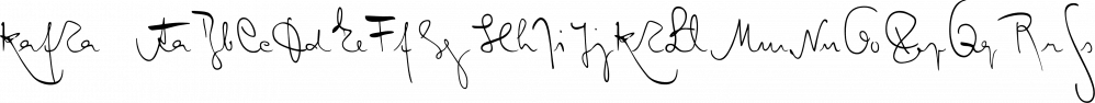 Kafka font family by Julia Bausenhardt