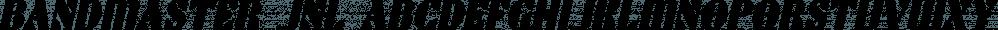 Bandmaster JNL font family by Jeff Levine Fonts