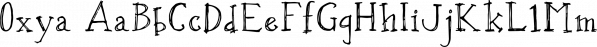 Oxya font family by Konstantina Louka