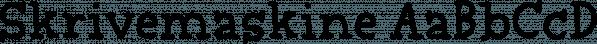 Skrivemaskine font family by Pizzadude.dk
