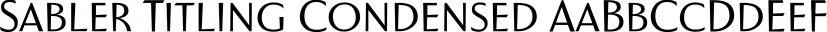 Sabler Titling Condensed font family by Insigne Design