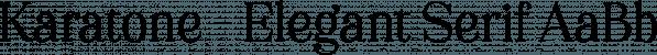 Karatone font family by Letterhend Studio