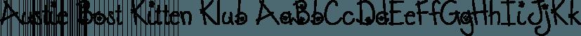 Austie Bost Kitten Klub font family by Austie Bost Fonts