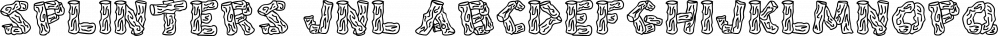 Splinters JNL font family by Jeff Levine Fonts