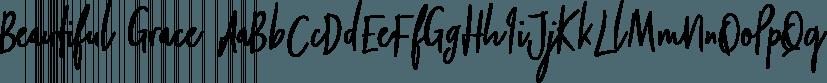 Beautiful Grace font family by Ian Barnard