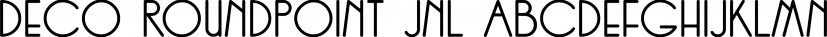 Deco Roundpoint JNL font family by Jeff Levine Fonts