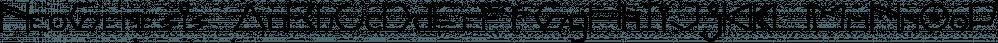 NeoGenesis font family by Indieferdie