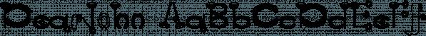 DearJohn font family by Ingrimayne Type