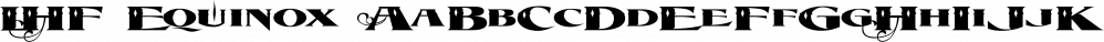 LHF Equinox font family by Letterhead Fonts
