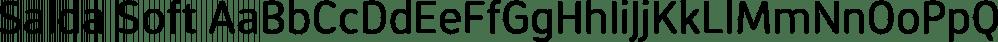 Salda Soft font family by Hurufatfont Type Foundry