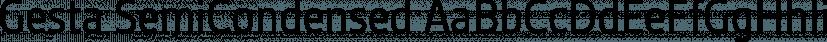 Gesta SemiCondensed font family by Rui Abreu