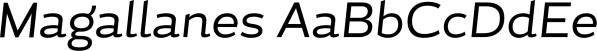 Magallanes font family by Latinotype