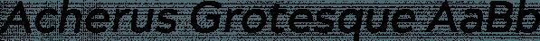 Acherus Grotesque font family by Horizon Type