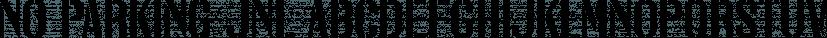 No Parking JNL font family by Jeff Levine Fonts