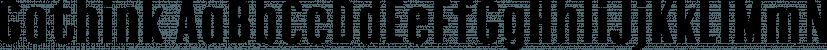 Gothink font family by Jadugar Design Studio