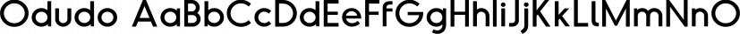 Odudo font family by thmbnl.