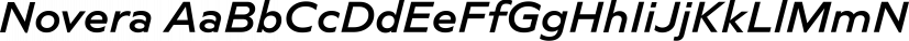 Novera font family by René Bieder