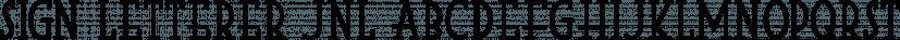Sign Letterer JNL font family by Jeff Levine Fonts
