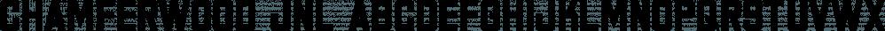 Chamferwood JNL font family by Jeff Levine Fonts