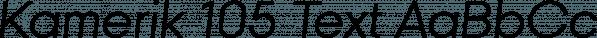 Kamerik 105 Text font family by Talbot Type