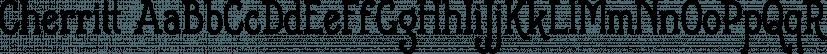 Cherritt font family by Greater Albion Typefounders