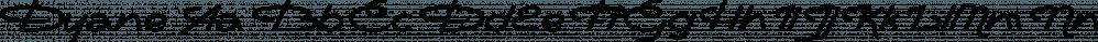 Dyane font family by Wiescher-Design