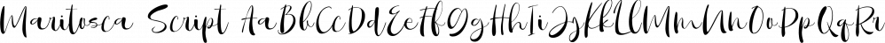 Maritosca Script font family by Letterhend Studio