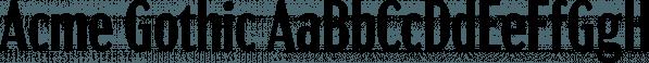Acme Gothic font family by Mark Simonson Studio