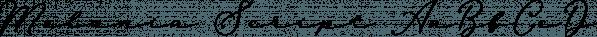Melania Script font family by Letterhend Studio