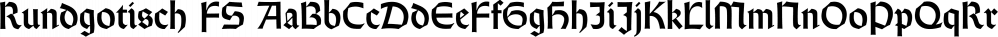 Rundgotisch FS font family by FontSite Inc.