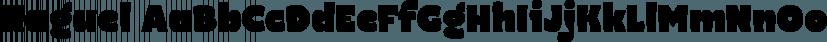 Naguel font family by Rodrigo Typo