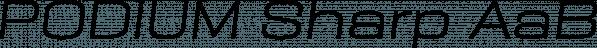 PODIUM Sharp font family by BORUTTA