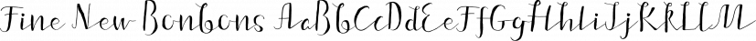 Fine New Bonbons font family by Tour de Force Font Foundry