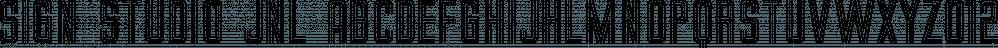 Sign Studio JNL font family by Jeff Levine Fonts
