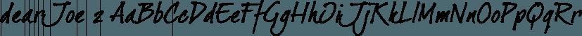 dearJoe 2 font family by JOEBOB Graphics