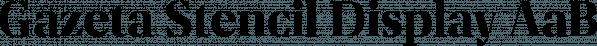 Gazeta Stencil Display font family by Vanarchiv