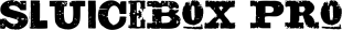 Sluicebox Pro font family mini