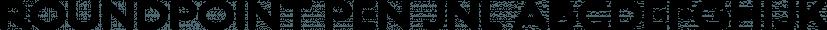 Roundpoint Pen JNL font family by Jeff Levine Fonts