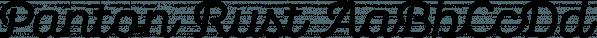 Panton Rust font family by Fontfabric