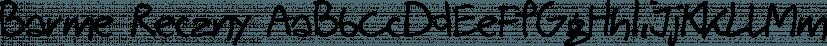 Barme Reczny font family by GRIN3 (Nowak)