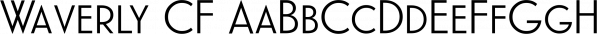 Waverly CF font family by Connary Fagen Type Design