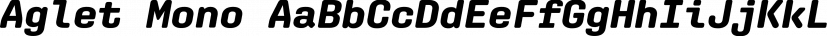 Aglet Mono font family by XYZ Type