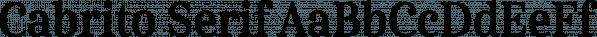 Cabrito Serif font family by Insigne Design