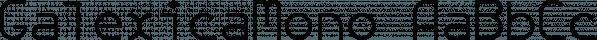GalexicaMono font family by Ingrimayne Type