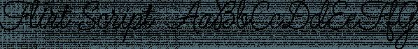 Flirt Script  font family by Positype