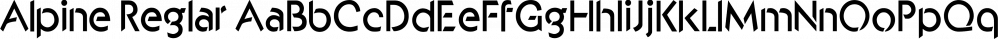 Alpine Reglar font family by Wooden Type Fonts