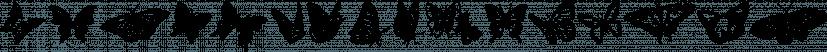 Butterflies font family by Typadelic